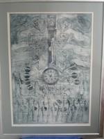 Rádoczy Gyarmati Gábor nagyméretű rézkarca új keretben eladó