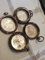 Ezüst zsebóra tok. kettő 925-ös és a másik kettő 800-as