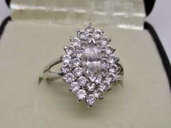 Gyönyörű régi  cseh kvarc kristályokkal 14kt aranygyűrű