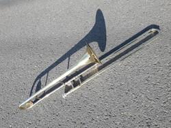 Réz harsona - trombita -  trombone talán John Packer felnőtt hangszer