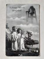 Régi képeslap húsvéti angyalos üdvözlőlap