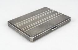 0W758 Régi jelzett ezüst cigaretta tárca dózni