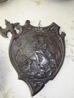 Antik Öntöttvas Pajzs ritkaság vas kép