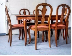 Étkezőgarnitúra,étkezőasztal , szék