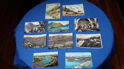 Tíz üdvözlő képeslap 1956-58., főleg Svájcból