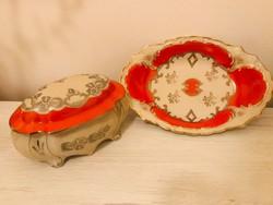 Porcelán Bonbonier Tálkával