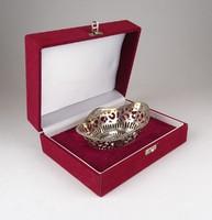 0X038 Jelzett 925-ös ezüst kosár díszdobozban