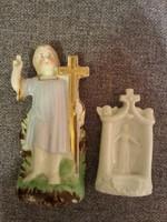2 antik porcelán szobrocska házi oltáshoz?