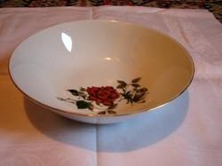 Porcelán salátás tál ,aranyozott szélű