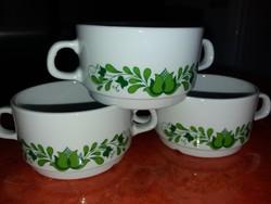 Alföldi krémleveses kétfülű csészék