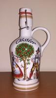 Jelzett, Rösler Bavaria porcelán pálinkás (Obstler), csatos, füles kiöntő eladó