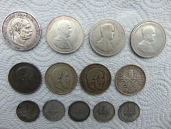 13 darab magyar ezüst csomag LOT !