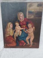 Antik Itáliai több  száz éves festmény.