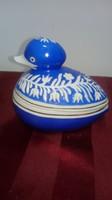 Hollóházi retro porcelán kacsa bonbonier