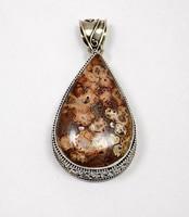 Jáspis köves ezüst medál (ZAL-AU83641)