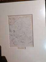 Kelety Gusztáv: tájkép alakokkal