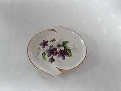1986 - Ibolya mintás porcelán tálka, hamutartó