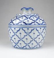 0Z095 Régi thaiföldi porcelán gyömbértartó
