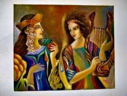 Múzsák / olaj festmény /