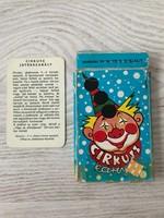 Régi cirkusz kártya, gyerekkártya, fekete péter
