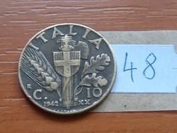 OLASZ 10 CENTESIMI 1942 XX ALU. BRONZ 48.