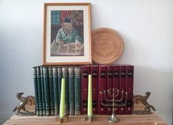 Judaika Gobelin Rabis kép + Dávid csillagos fali tányér