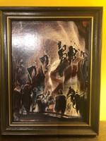 Gábri Albert festmény: Kompozíció XIX.