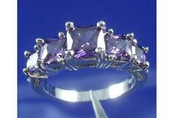 14K White Gold Filled gyűrű 9-es ÚJ!