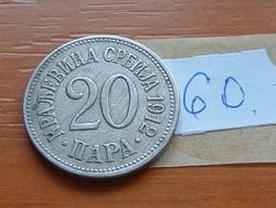 SZERBIA 20 PARA 1912 60.