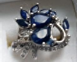 Valódi zafir köves ezüst gyűrű
