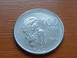 OLASZ 100 LÍRA 1979 F.A.O. TEHENEK #