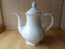 Mitterteich Bavaria barokk fehér porcelán kiöntő teáskanna