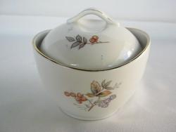 Hollóházi porcelán cukortartó