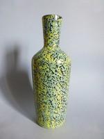 Ritka retro,vintage iparművészeti  türkizzöld kerámia váza