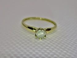 Szépséges 14kt 0.25ct gyémánt arany gyűrű