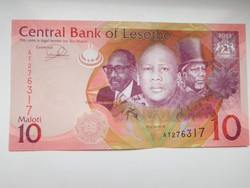 Lesotho 10 maloti 2013 UNC