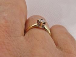 Szépséges antik gyémánt arany gyűrű
