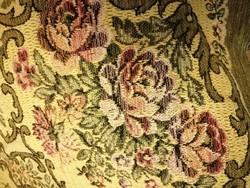 Régi rózsás ágytakaró/terítő 190x130cm