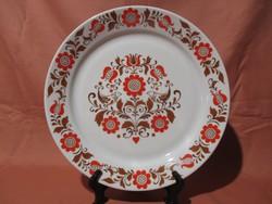 Retro Alföldi süteményes tálca, fali tál, tányér madaras-virágos mintával