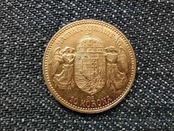Osztrák-Magyar .900 arany 10 Korona 1908 KB BU / id 16265/