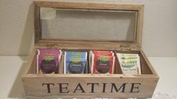 Tea tároló, tartó doboz