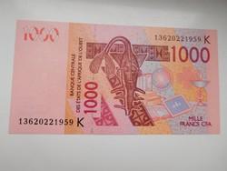 Nyugat afrikai államok / szenegál/  1000 francs 2003-2012 UNC