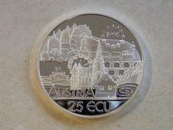 KK554 1995 Ezüst 25 ECU Ausztria tükörveret