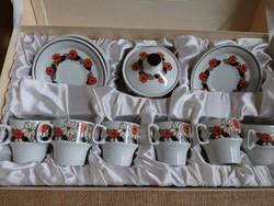 Meduza vásárló részére Hollóházi kávéskészlet eredeti dobozában - 6 személyes