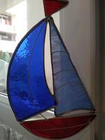 Tiffany jellegű  ablak dísz