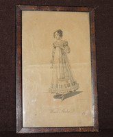Wiener Mode 1818-as női divat grafika.