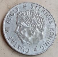 Svéd ezüst 1 Korona 1961. ××