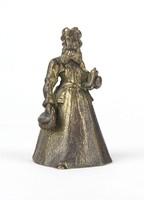 0Y533 Kisméretű alakos bronz csengő 10 cm