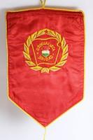 Kádár-kor Szocialista Brigád selyem zászló
