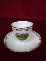 Hutschenreuther minőségi német porcelán kávéscsésze + alátét.